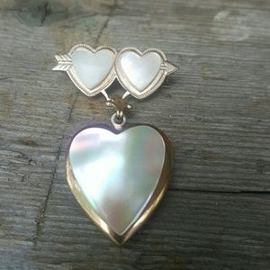Vintage sweet heart brooch